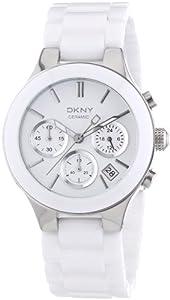 Reloj DKNY NY4912 de cuarzo para mujer con correa de cerámica, color blanco de DKNY