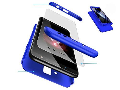 DYGG kompatibel mit hülle für Huawei Mate 10 lite hülle,360 Grad Schutz Schutzhülle Ultra dünn Soft PC Hartgummi handyhülle Case Cover + Displayschutzfolie - blau