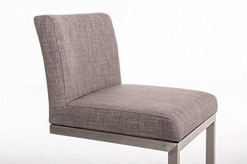 Clp sgabello alto in acciaio inox paros con seduta in stoffa