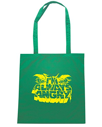 T-Shirtshock - Borsa Shopping FUN0253 10 26 2012 Always Angry T SHIRT det Verde