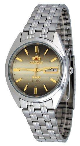 Orient #FEM0401PU de la estrella de los hombres de la Tri-color marrón piel sensible reloj automático estándar de la muñeca