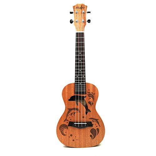 LouiseEvel215 Professionelle Delphin Muster Sopran Ukulele Uke Hawaii Gitarre Sapele 4 Saiten Holz Ukulele Musikinstrumente Für Anfänger