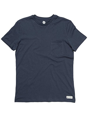 Element Herren T-Shirt Basic Pocket Shirt, T-Shirt mit Brusttasche Navy