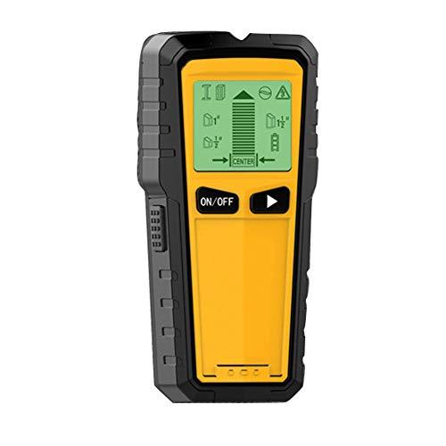 LNLJ Stud Finder Wandscanner - 3-in-1-Wandscanner aus Holz mit AC-Leitung, Metallstifterkennung und LCD-Anzeige (gelb) -