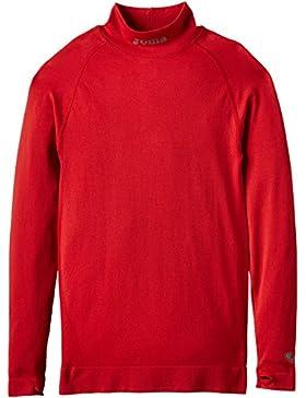 Joma Brama Classic Camiseta Térmica de Manga Larga, Niños, Rojo, 8-10