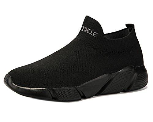 GUDEER Uomo Donna Sportive Running Scarpe da Ginnastica a Maglia Atletico Allacciare Sneakers