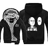 Evere Männer Kapuzenpullover Saitama Cosplay Zip Hoodie Anime Kostüm Warme Sweatshirt Winter Mantel Kleidung für Erwachsene