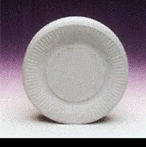 Platos de papel desechables para fiesta de Picnic 18 cm 100/unidades - blanco