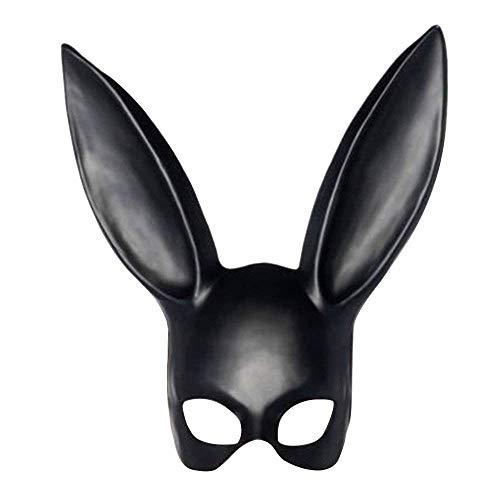 BG&MF Halloween Maske, Kaninchen Maske mit Ohren Bunny Maske Frauen Maskerade Maske Cosplay Party Kostüm Verkleiden Requisiten Ostern Karneval - Matte ()