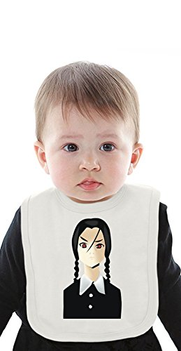 wednesday from addams family Organic Baby Bib With Ties Medium (Baby-gomez Family Addams)