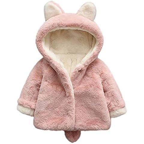 SMARTLADY - Invierno Abrigo de Piel Capa para Bebé Niñas Niños, Lindo Conejo Chaqueta Ropa Calida