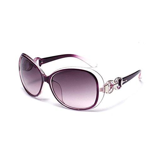 Westeng Frauen polarisierten Sonnenbrillen Dame Brillen mit großem Rahmen UV 400 Schutz für das Fahren/Angeln / Golf,Lila