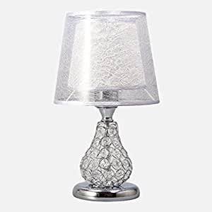 Led Lamps Modern Romantic European Luxury Crystal Table Lamps Wedding Decoration Creative Bedroom Living Room Bedside E27 Attractive And Durable