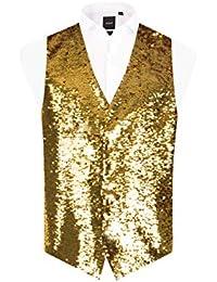 119035c46d5 Amazon.co.uk: Gold - Waistcoats / Suits & Blazers: Clothing