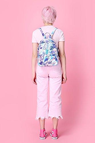 OLETHA Zaino Piccolo Mini Borsellino per Donna | A4 formato | 34x23x11cm | Rose grigio D212M, Rosa tropicale