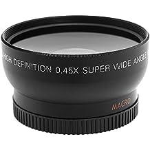 Andoer HD 52MM 0.45x objetivo gran angular con MACRO lente para Canon Nikon Sony Pentax 52mm DSLR Camera