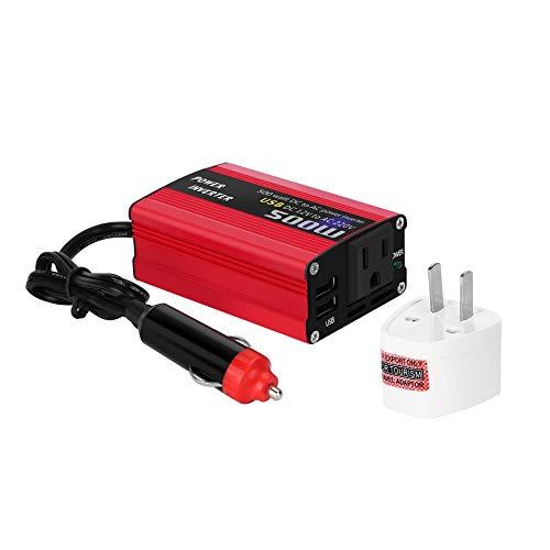 HermosaUKnight 500W DC to AC Power Converter DC 12V to 110V 220V AC Car Inverter with Dual USB