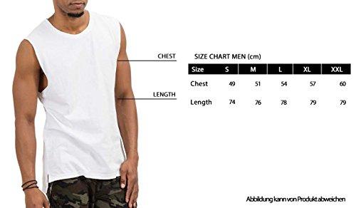 trueprodigy Casual Herren Marken Tank Top einfarbig Basic, Oberteil cool und stylisch mit Rundhals (Ärmellos & Slim Fit), Muscle Shirt für Männer in Farbe: Grau 1073181-0403 Anthracite