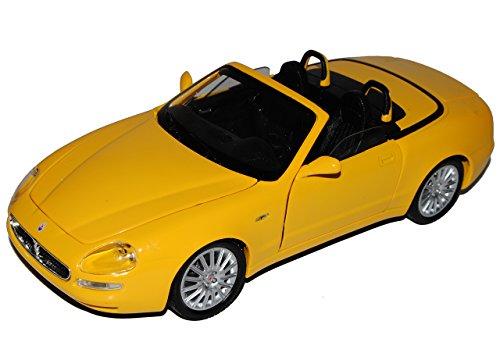 Bburago Maserati 3200 GT Spyder Cabrio Gelb 2004-2007 34097 1/18 Modell Auto mit individiuellem Wunschkennzeichen