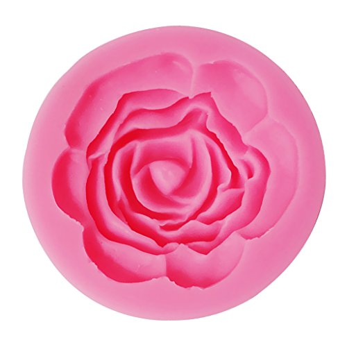 Homyl 3D Silikon Form für Marzipan und Fondant - Tortendeko - Mehrform - Rose, 5.6*1.7cm