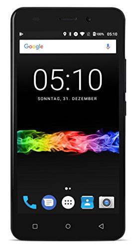 swisstone SD 510 Dual SIM 3G Smartphone (12,7 cm (5 Zoll) Touchscreen, 8GB Speicher, Android 7.0) schwarz