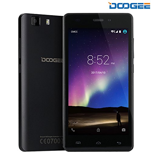 DOOGEE X5 Pro Smartphone, 4G Teléfonos Móviles Libres Baratos - 5.0 Pulgadas IPS Pantalla - MT6735 Quad Core 1.0GHz - Dual SIM - 2GB RAM + 16GB ROM - 5.0MP Cámara - Android 5.1, GPS, OTG (Negro)