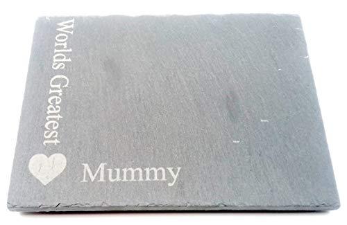 Chris Tasche von Leckereien Worlds Greatest Mummy quadratisch grau Slate Herz Motiv Neuheit Andenken Single One Untersetzer Idee von Kinder Kids für Getränke