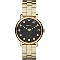Marc Jacobs MBM3421 Steel Bracelet Quartz Analog Women's Watch (Gold)