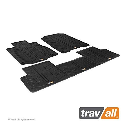 Travall Mats Gummifußmatten TRM1222 - Allwettermatten nach Maß Fussmatten Set (Auto-fußmatten Honda Crv)