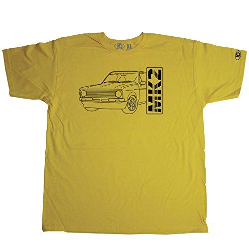 Nicram Designs Herren Rundhalsausschnitt T-Shirt Gelb - Gelb