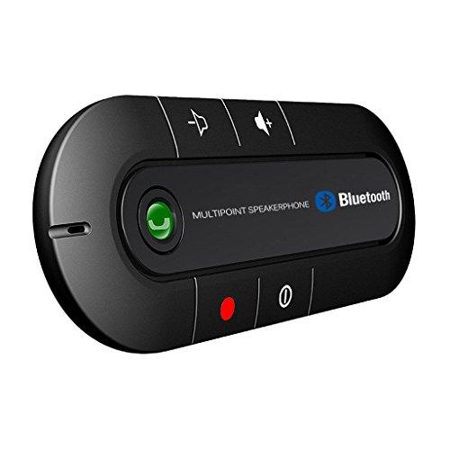 QIHANGCHEPIN Altavoz Bluetooth Altavoz manos libres para el coche Bluetooth Kit manos...