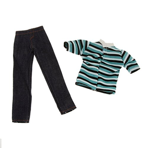 prince-doll-suit-clothes-casual-clothing-stripped-t-shirt-and-jean-pants