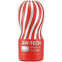Tenga Air Tech Regular, Funda Masturbadora, 6.9 × 15.5 x 6.9 cm, Color Rojo / Gris - 235 gr