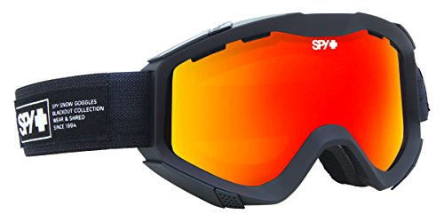 Spy Snow Goggle Zed - Nocturnal(w/Bonus Lens) Bronze W/Red Spectra, One Size