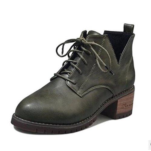 Chaussures De Confort Femme Peut Printemps Bottes Chaussures De Marche Orteil Gros Talon Pantoufles Orteil Fermé / Bottes Vêtements De Sport Noir Brun Vert, Brun, Us5.5 / Eu36 / Uk3.5 / Cn35 Brown