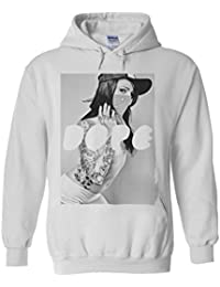 Sexy Girl Dope Gangster Novelty White Femme Homme Men Women Unisex Sweat à Capuche Hooded Sweatshirt Hoodie
