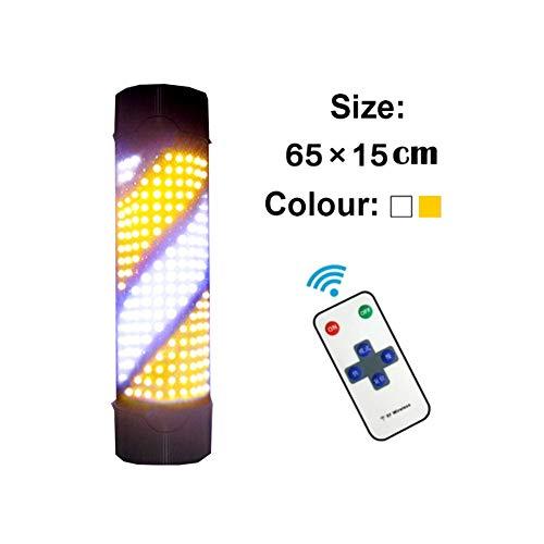 TENCMG Wand wasserdichte LED Friseursalon Turnlight-Barber Turnlight Intelligente Fernbedienung-Umschaltbar Modus Geschwindigkeit,yellowwhite,65X15CM Strobe-wand