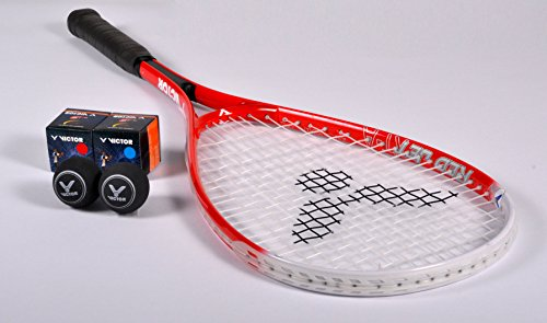 VICTOR Squashschläger Set Red Jet XT-A, 1 Racket / 2 Bälle