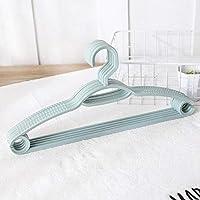 WANGYG Plastic non-slip hanger plastic non-slip hanger home multi-function adult drying rack plastic non-slip @ blue (10 Pack)