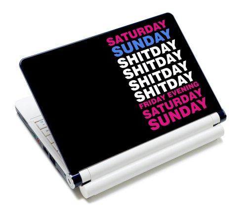 Luxburg® Design Aufkleber Schutzfolie Skin Sticker für Notebook Laptop 12 / 13 / 14 / 15 Zoll, Motiv: Shitday Kalender - Design Notebook Skin