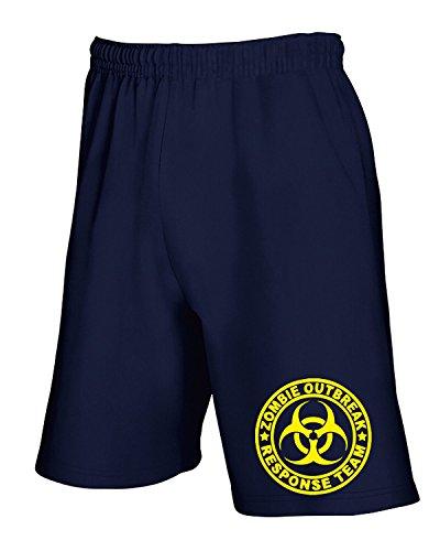 Cotton Island - Pantalone Tuta Corto TZOM0027 zombie outbreak response team tshirt, Taglia S