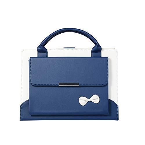 Neues iPad 2018 12.9 Gehäuse,Suney PU Leder Auto Wake/Up Funktion Freisprecheinrichtung Ständer Handtasche Abdeckung mit Multi Schreibwinkel Ganzkörper Schutzhülle für 2018 Neues iPad Pro 12.9 - Blau -