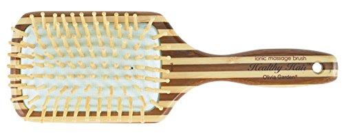 Olivia Garden, Spazzola piatta pneumatica massaggiante Healty Hair, 9 file di dentini