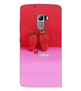 PrintDhaba Strawberries D-5037 Back Case Cover for LENOVO VIBE X3 c78 (Multi-Coloured)