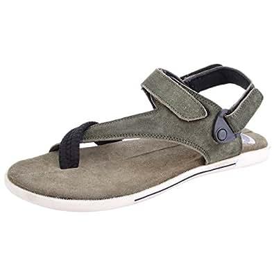 Woodman Men's Green PU Outdoor Sandals 10 UK