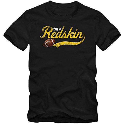 I'm a RedSkin #1 T-Shirt Football Herren Super Bowl Play Offs USA, Farbe:Schwarz (Deep Black L190);Größe:XL