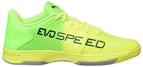 Puma Evospeed Indoor 3.5, Chaussures de Football Mixte Adulte Jaune (Safety Yellow-puma Black-green Gecko-quarry 03)
