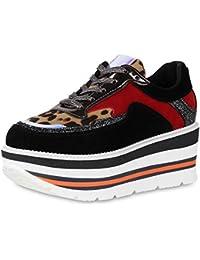 0985c5a1f8877d SCARPE VITA Damen Plateau Sneaker Prints Metallic