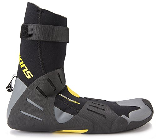 <span class='b_prefix'></span> C-Skins Unisex Session 6mm Round Toe Wetsuit Boots / Black/Yellow / UK 4