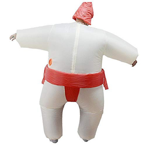Männliche Puppe Aufblasbare Kostüm - Lydia's Anime Fat Sumo Wrestling Aufblasbare Kleidung Halloween Tricky Cartoon Puppe Kostüm Halloween Lustige Show Wrestling Requisiten Red-Adult (150-195cm)